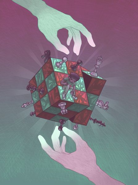 """""""Mindgames"""" Art Print by Miguel Co on Society6."""
