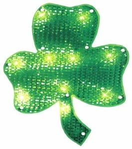 15 inch Lighted Shamrock - St. Patrick's Day Lighted Decorations