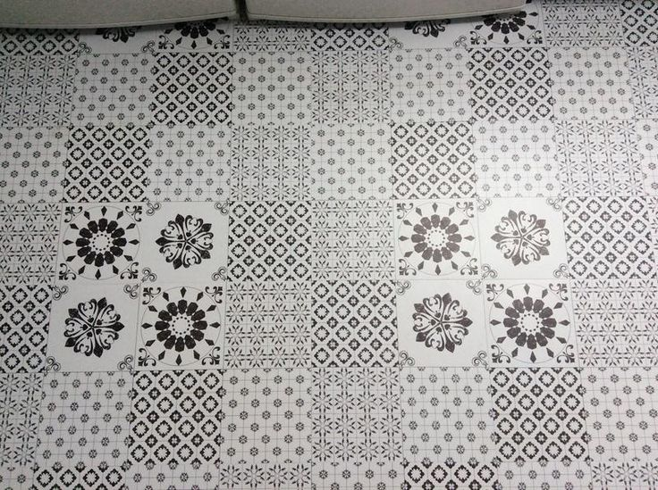 Colours Black Amp White Patchwork Effect Self Adhesive Vinyl