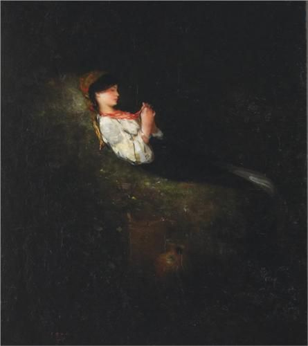 Girl With Red Beads - Nicolae Grigorescu