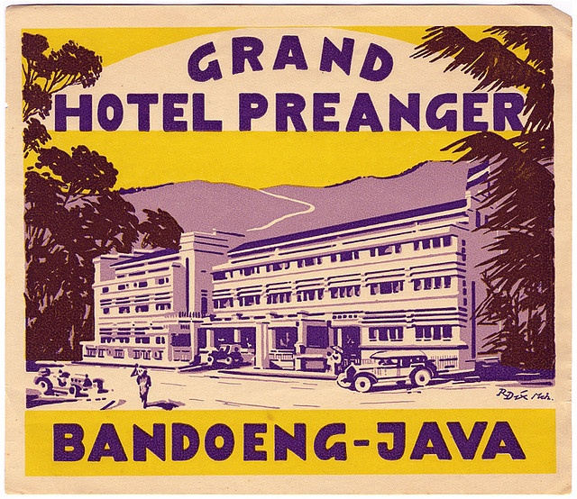 hotel preanger java by Art of the Luggage Label, via Flickr