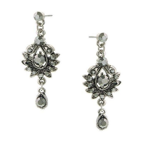 2028 Jewelry Marcasite Glimmer Drop Dangle Earrings Found On Polyvore