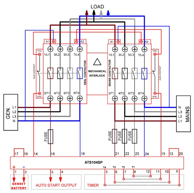 24 hour timer circuit automatic changeover switch circuit diagram of