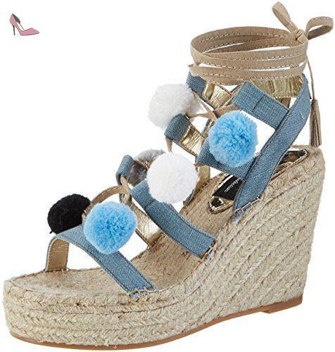 Bresa, Sandales Bride Cheville Femme, Bleu (LT Blue 34), 40 EUReplay