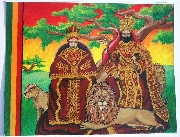 Ethiopian King and Queen Emperor Haile Selassie & by Ilive2loveJAH