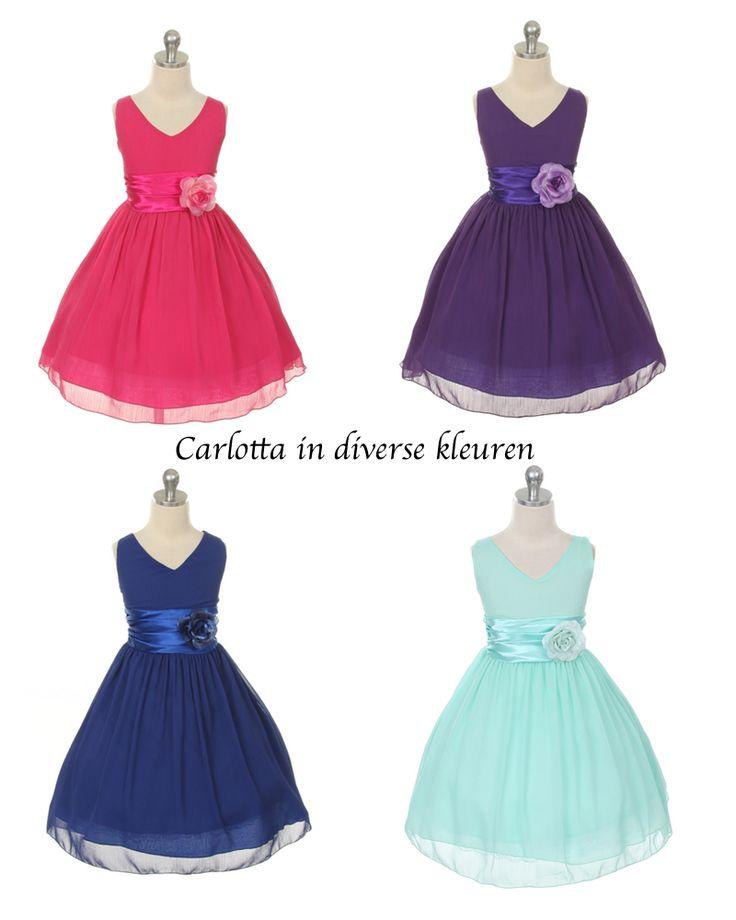 Carlotta. Verkrijgbaar in diverse kleuren. Leuk feestjurkje voor elke feestelijke gelegenheid