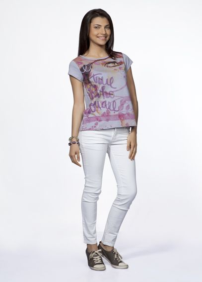 Believe in yourself in this unique graphic art Organic cotton printed top.