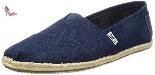 TOMS Navy Linen Rope Alpargatas, Chaussons Bas Homme, Bleu (Navy), 45 EU - Chaussures toms (*Partner-Link)