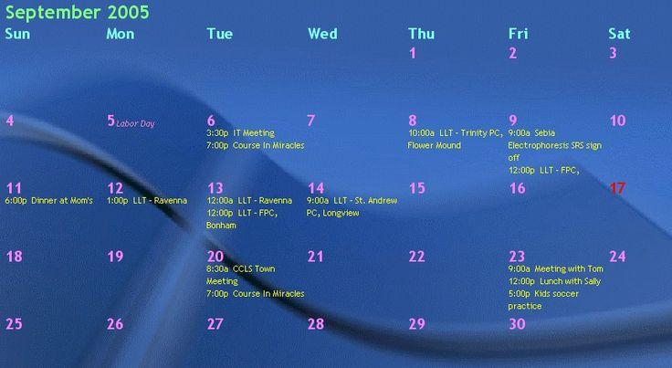 Desktop Calendar Windows 10 : Best calendar images on pinterest blank