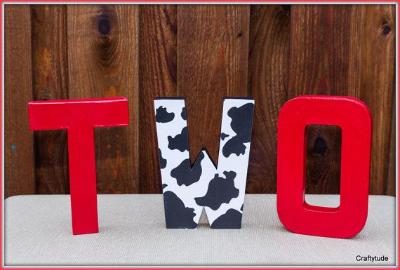 Cow theme party Cowboy Party Decoration Farm theme by Craftytude, $25.00