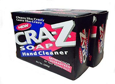 Cra-Z Soap Heavy Duty Hand Cleaner Powerful All Purpose Soap 10.7 Oz. 300g Bars.