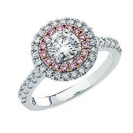 Pink Diamond engagement ring from Xennox Diamonds
