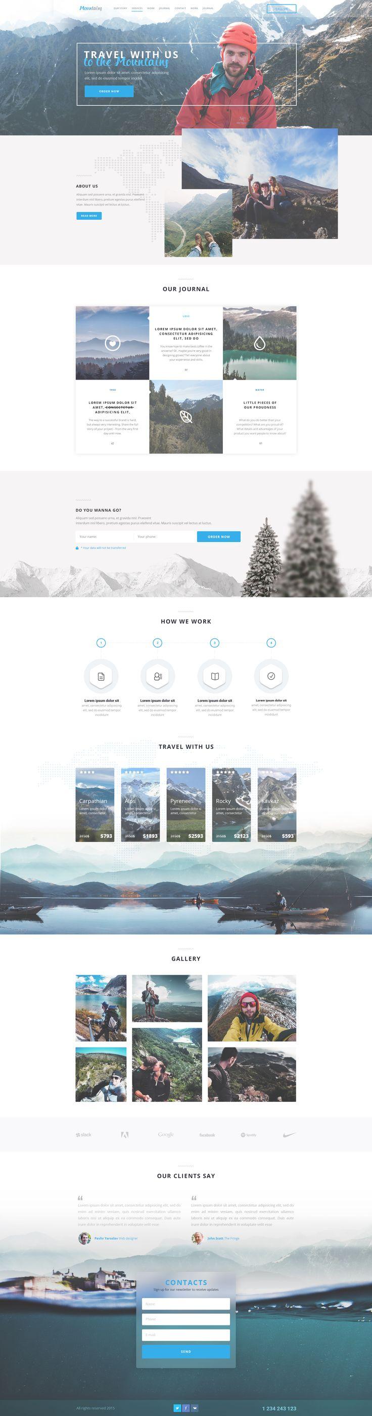 Mountains-Landing-Page
