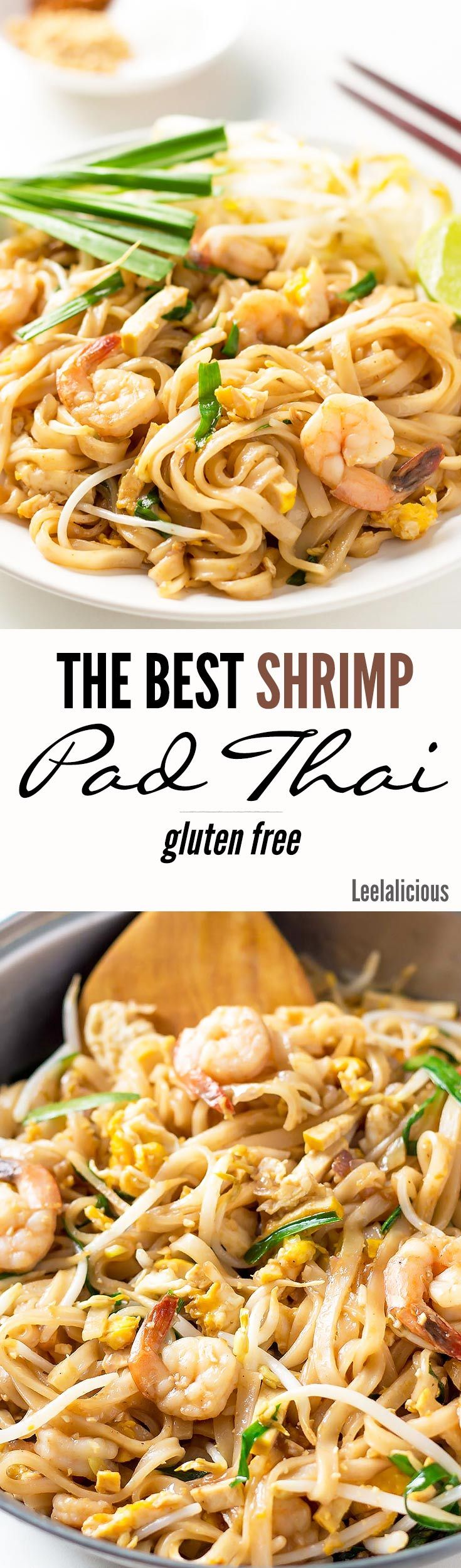 This is THE BEST Shrimp Pad Thai Recipe! I learnt it in a cooking class in Chiang Mai. The gluten free noodle stir fry tastes just as amazing as on the streets of Thailand.