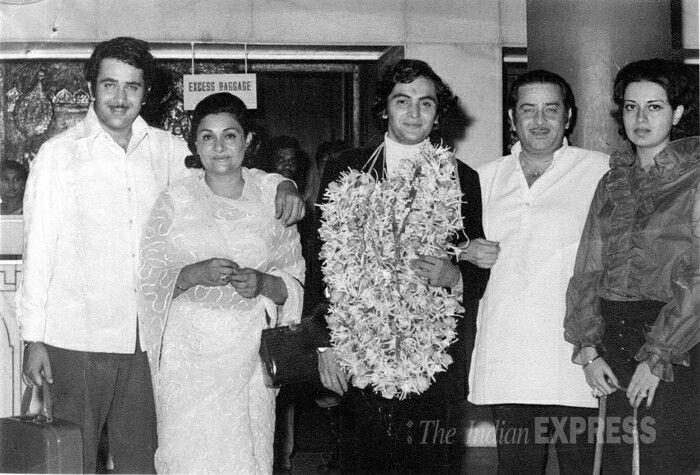 Raj Kapoor, Randhir Kapoor, Rishi Kapoor