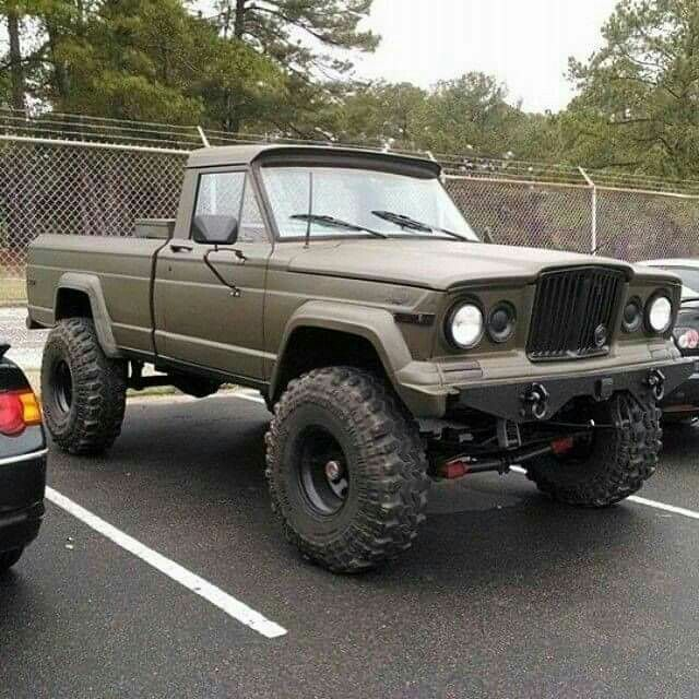 Jeep Gladiator,,,,,,i found one by my house that I am going to buy. My buddy has a '97 Ford Diesel that I am using for the driveline. I will post picks as it progresses.