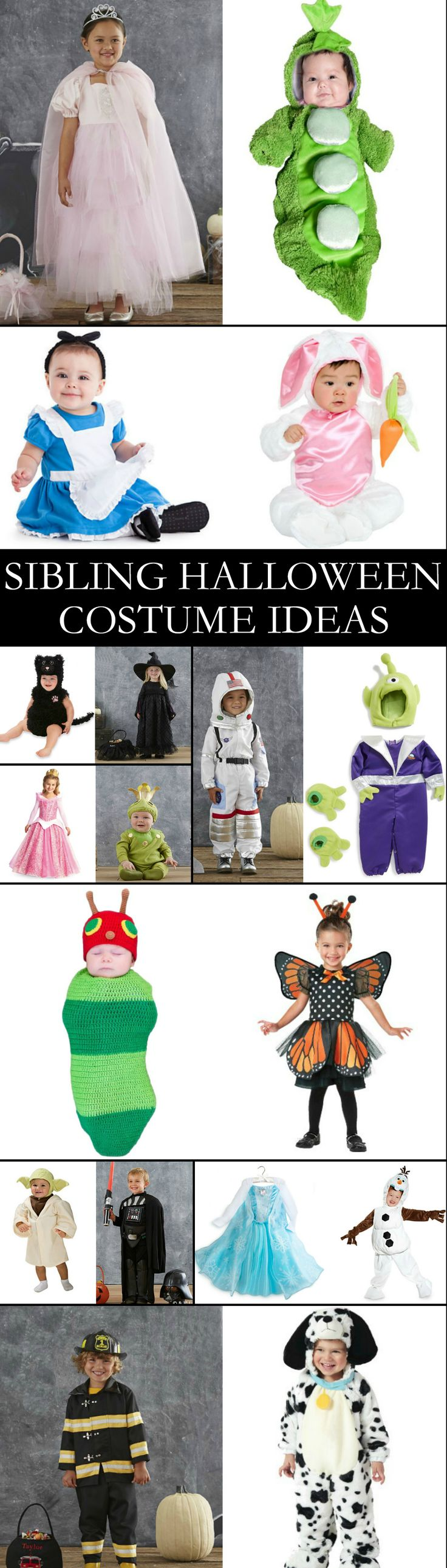 Halloween Sibling Costume Ideas - you'll have the cutest pair on the block with these ideas!