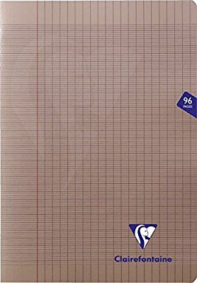 Clairefontaine Mimesys 353161C Cahier piqué polypro 96 pages grands carreaux 90 g A4 Vert
