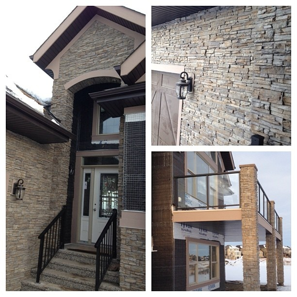 Stacked Stone Home Exterior: Stacked Stone Stone Exterior And Entrance