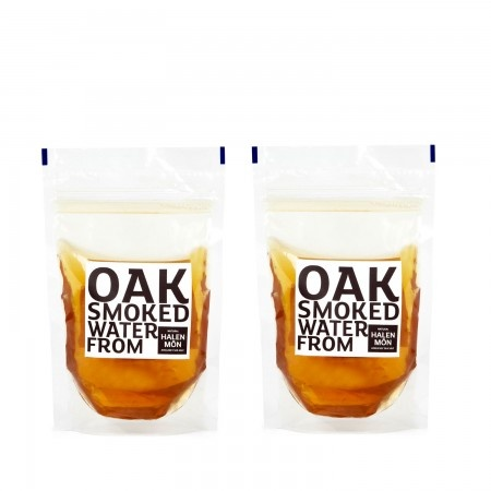 Halen Mon oak smoked water - for whiskey ice cubes and for making stock tastier.