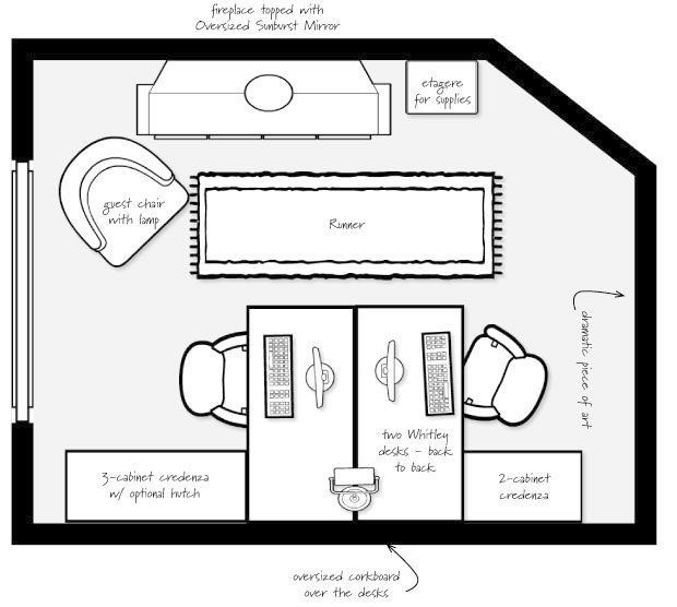 Amazing Two Desk Office Layout 25 Best Two Person Desk Ideas On Pinterest 2 Person Desk Double D Tiny Home Office Home Office Layouts Shared Home Offices