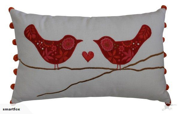 Love Bird Cushion With Inner (RED) | Trade Me