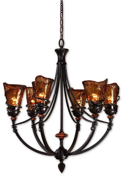 50 best lighting images on pinterest home ideas chandeliers and uttermost 21227 vitalia 6lt oil rubbed bronze chandelier aloadofball Images