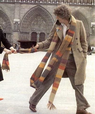 I have a friend, Jennifer, who loves the Dr. Who TV show. She expressed a desire to have the Dr. Who Scarf which is like a 10ft long knitted monstrosity. I guess he used it to measure things... In ...