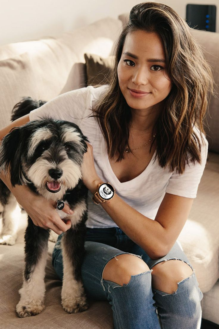 Jamie Chung's favorite part of her Q Wander rose gold touchscreen smartwatch? Her personalized watch face featuring her dog Ewok! Design your own and submit you entry for a chance to be featured in Spring 2017!