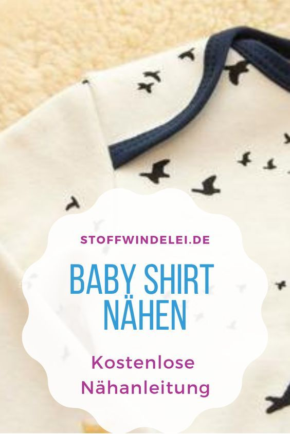free sewing pattern and sewing instructions for a baby shirt 50 / 56-62 / 68-74 / 80-76 / 92