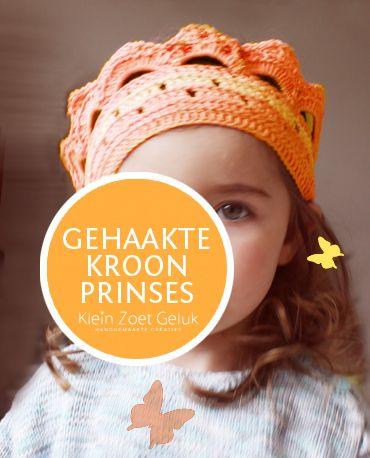 Klein Zoet Geluk: Kroontje haken van oranje!