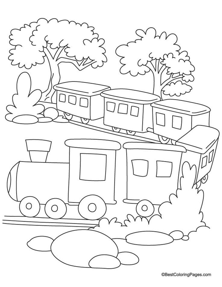 coloring pages trains preschoolers development - photo#30