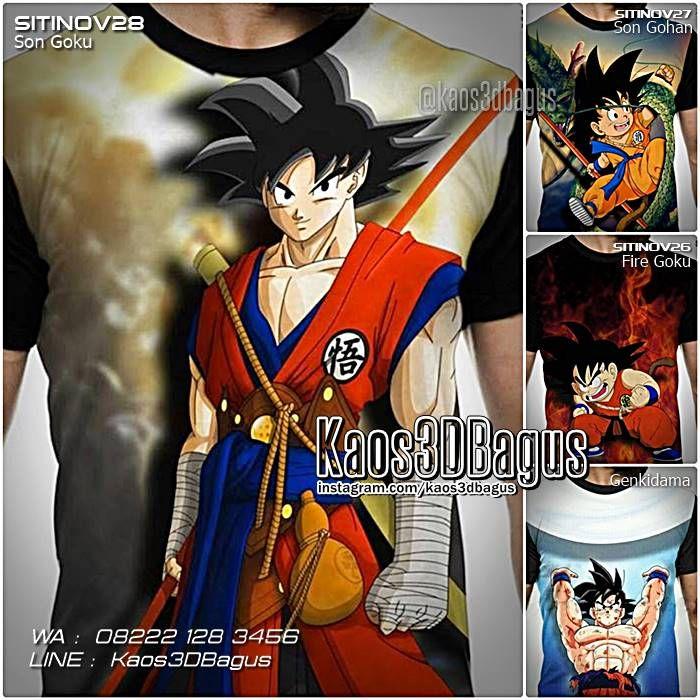 Kaos DRAGON BALL, Kaos Karakter DRAGON BALL Z, Kaos Animasi Dragon Ball, Kaos 3D, Son Goku, Son Gohan, Genkidama, https://kaos3dbagus.wordpress.com, WA : 08222 128 3456, LINE : Kaos3DBagus