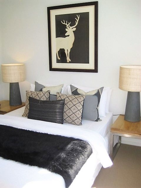 OH deer.  An inviting bedroom styled by Leeder Interiors.