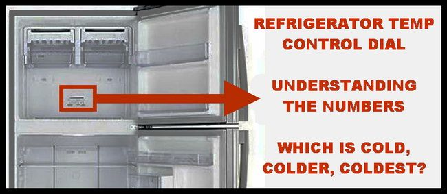 Refrigerator Temperature Control Dial – What Do The Numbers Relate To? – Cold, Colder, Coldest