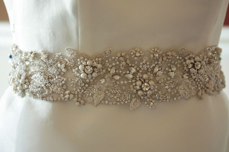 Wedding Sash Belt - FLORA 27.5 to 28 inches by Millie Icaro #weddings #wedding gown belts