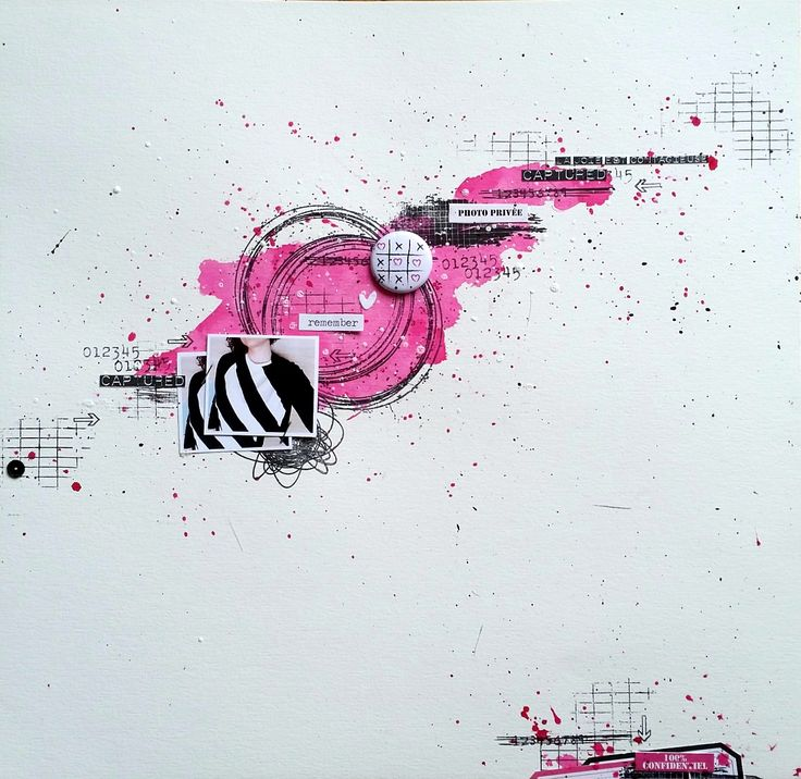 Graffiti Girl – Scrappez différent page freestyle rose de melissandre collection Girly