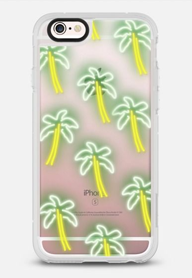 Neon Palm Trees iPhone 6s case by Olga Komasinska | Casetify