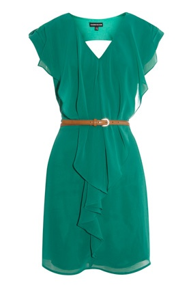 teal dress.: Emeralds Green Dresses, Dreams Closet, Style, Favorite Colors, Skinny Belt, Teal Dresses, Cute Dresses, Pretty Colors, Ruffles Dresses