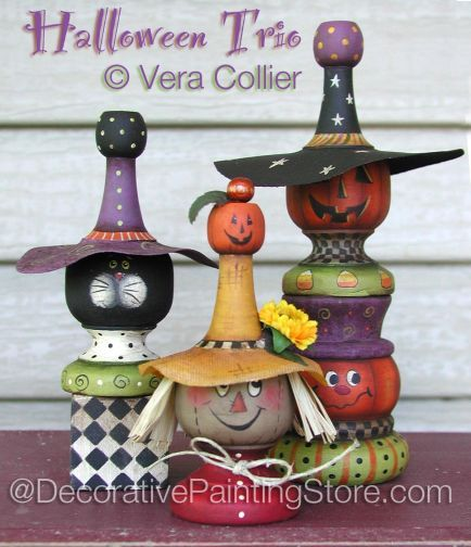 The Decorative Painting Store: Halloween Trio Pattern BY VERA COLLIER