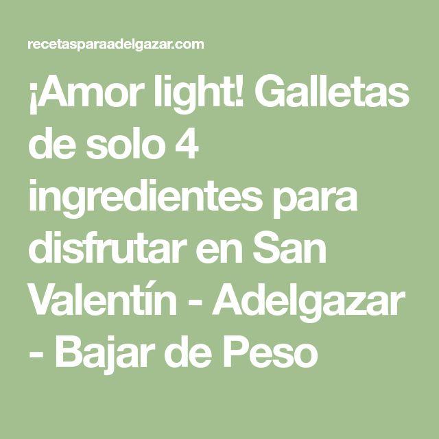 ¡Amor light! Galletas de solo 4 ingredientes para disfrutar en San Valentín - Adelgazar - Bajar de Peso