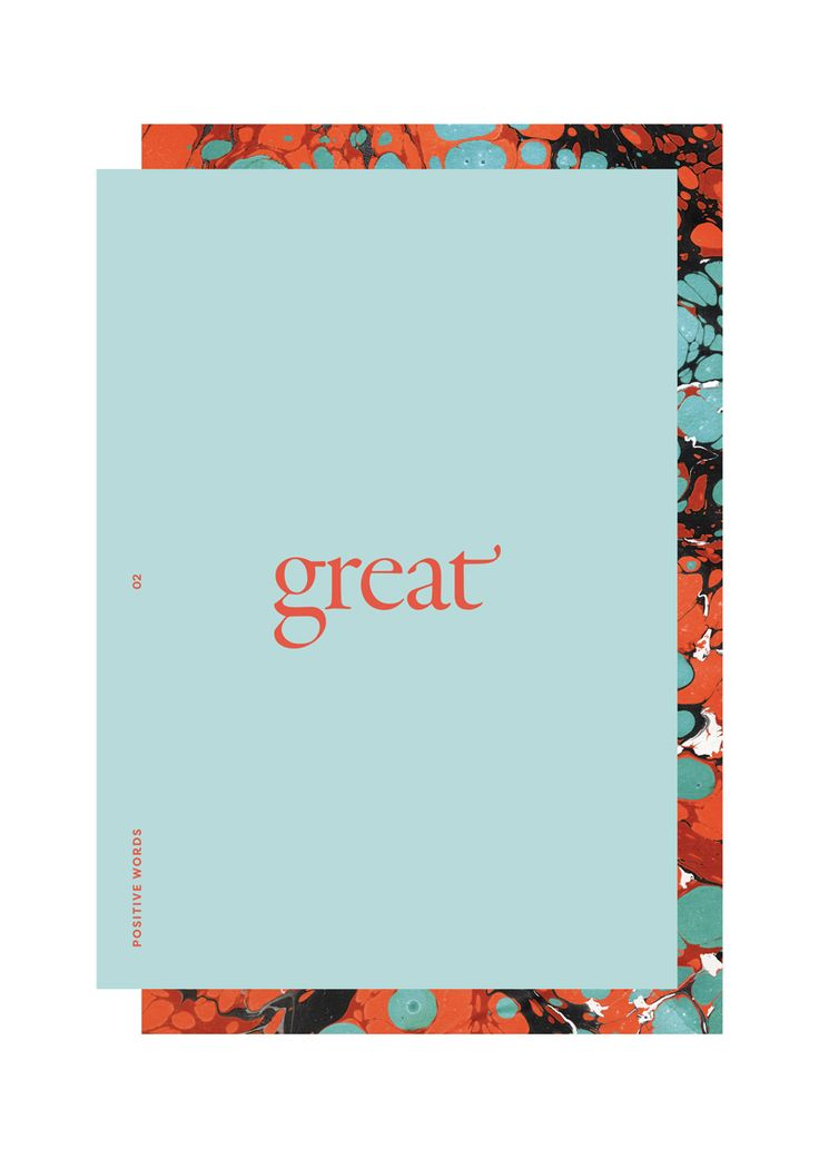 Lu's Book of Positive Words on Behance