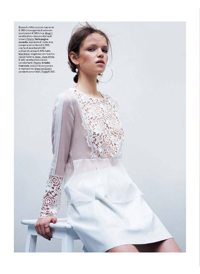 Best Editorials - Blugirl Spring Summer 2015 • Chiffon and macramè lace blouse. • GIOIA, Italy - March 14, 2015