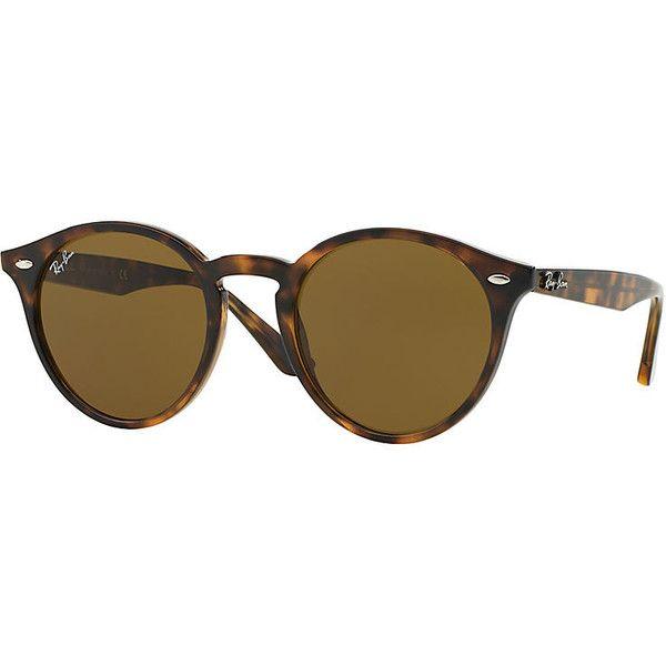 Ray-Ban Blue Sunglasses, Brown Lenses - Rb2180 (475 BRL) via Polyvore  featuring accessories, eyewear, sunglasses, blue, ray ban sunnies, round  circ… c9e3e5845628