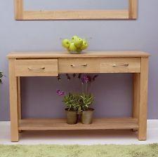 Conran Solid Oak Modern Furniture Console Hallway Hall Table