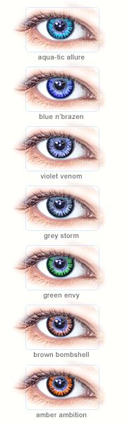 I really want to try non-prescription contacts. Just to see what I would look like with a different eye color. :)