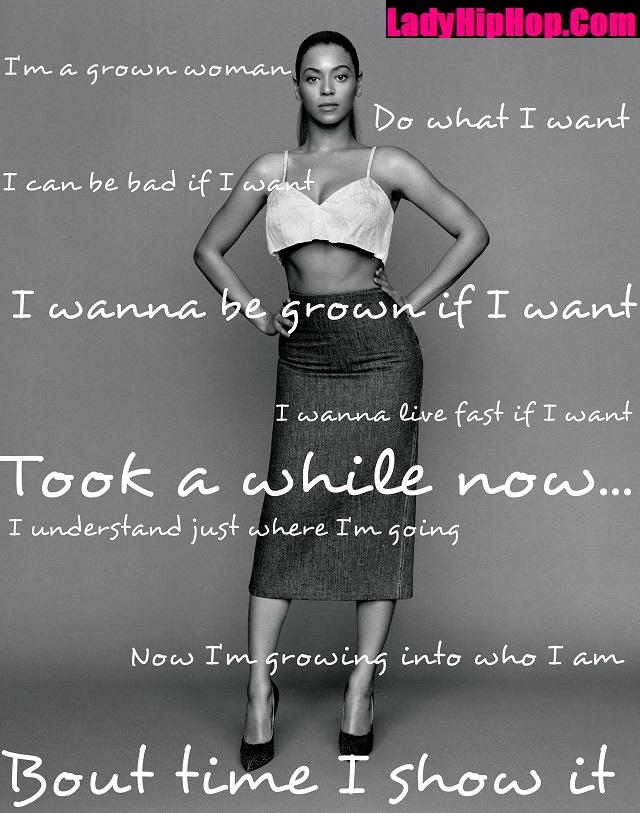 Beyonce, Song Lyrics