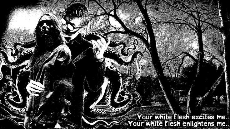 Dein weißes Fleisch erregt mich.. Dein weißes Fleisch erleuchtet mich.. ✴  #blackandwhite #glasses #glasgowsmile #cheshiregrin #woman #molest #touch #tentacles #lovecraft #knife #tree #dark #nightmare #girl #sadboy #possessed #model #paranormal #activity #4 #longhair #blondehair #blood #weissesfleisch