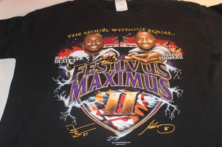 NFL Baltimore Ravens Festivus Maximus TShirt Bart Scott Adalius Thomas Rare   #Gildan #BaltimoreRavens
