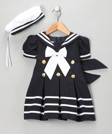 Navy Sailor Dress & Hat - Infant, Toddler & Girls by LA Sun on #zulily today!